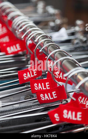 sale labels on clothes hangers stock photo 1113985 alamy