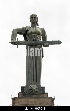 Mother Armenia statue, Victory Park, Yerevan, Armenia - Stock Photo