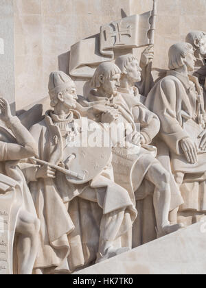 Monument to the Discoveries of the New World in Belem, Lisbon, Portugal. - Stock Photo