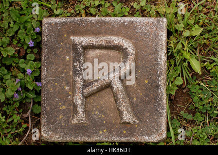 object, stone, vintage, writing, font, typography, letter, character, alphabet, - Stock Photo