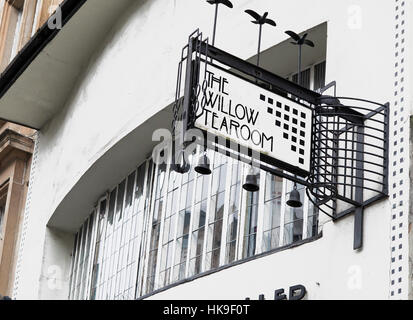 Charles Rennie Mackintosh Willow Tea Rooms Sauchiehall Street Glasgow - Stock Photo