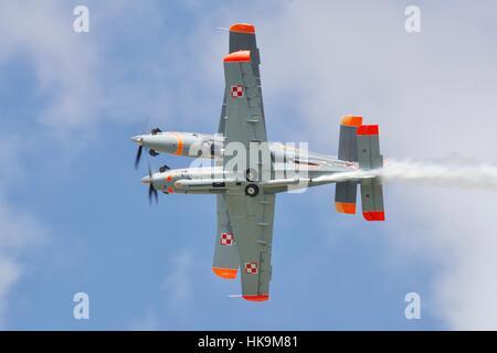 Polish Air Force Orlik aerobatic display team - Stock Photo