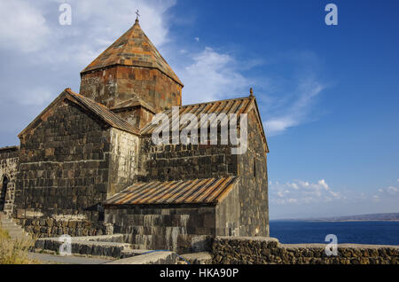 Sevanavank (Sevan Monastery), a monastic complex located on a shore of Lake Sevan in the Gegharkunik Province of - Stock Photo