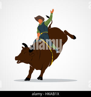 Rodeo cowboy Branding Identity Corporate logo design template Isolated on a white background. Photo illustration. - Stock Photo