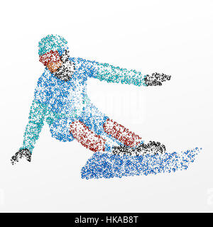 Abstract athlete of the circles. Photo illustration. - Stock Photo