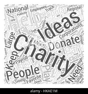 charity ideas Word Cloud Concept - Stock Photo