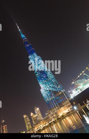 Burj Khalifa, world's tallest skyscraper, Dubai, United Arab Emirates. - Stock Photo