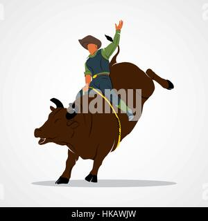 Rodeo cowboy Branding Identity Corporate vector logo design template Isolated on a white background. Vector illustration. - Stock Photo