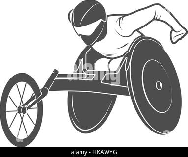 Paralympic games. The athlete in the wheelchair rio Disabled. Vector illustration. - Stock Photo