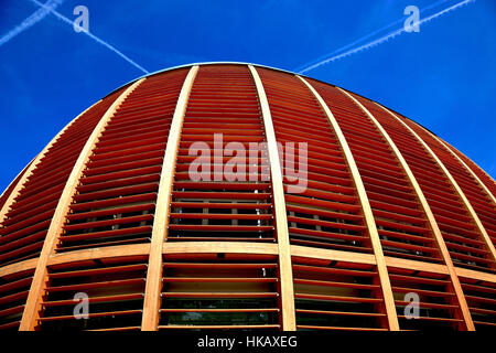 Italy, City of Milan, Porta Nuova, Bank of Unicredit Bank and pavilion, Auditorium at Piazza Gae Aulenti - Stock Photo