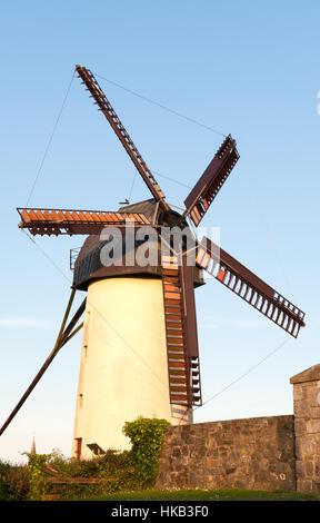 Beautiful view on Skerries windmills in Ireland. - Stock Photo