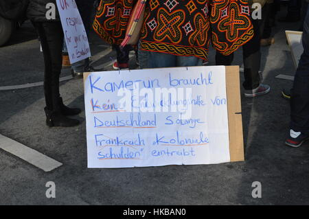 Berlin, Germany. 27th jan, 2017 - Cameroon anglophone rally in Berlin Credit: Markku Rainer Peltonen/Alamy Live - Stock Photo