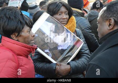 Berlin, Germany. 27th Jan, 2017 - Cameroon anglophone rally in Berlin Credit: Markku Rainer Peltonen/Alamy Live - Stock Photo