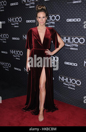 Los Angeles, USA. 27th Jan, 2017. Keltie Knight attends The NHL 100 Gala held at The Microsoft Theater. Credit: - Stock Photo