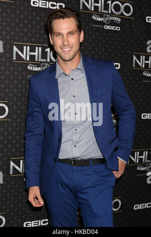 Los Angeles, Ca, USA. 27th Jan, 2017. Brad Benedict at The NHL100 Gala at the Microsoft Theater in Los Angeles, - Stock Photo