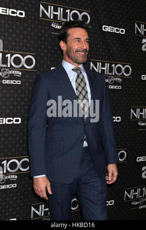 Los Angeles, Ca, USA. 27th Jan, 2017. Jon Hamm at The NHL100 Gala at the Microsoft Theater in Los Angeles, California - Stock Photo