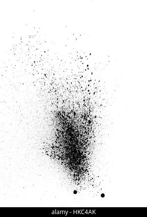 sprayed graffiti effect in black on white - Stock Photo