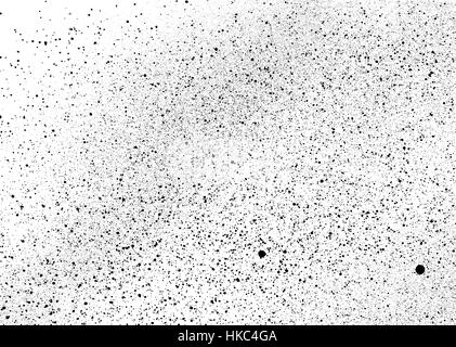 graffiti mist speckles in black over white - Stock Photo
