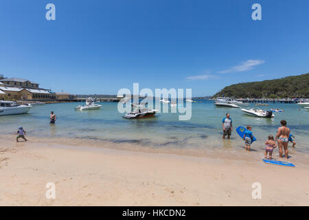 Chowder Bay at Clifton Gardens in Sydney Harbour National Park,Sydney,Australia on a summers day. - Stock Photo