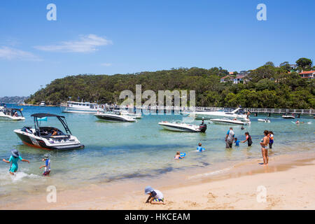 Clifton Gardens Beach at Chowder Bay in Sydney national Park,New South Wales,Australia - Stock Photo