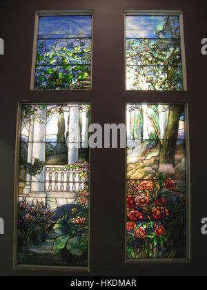 Louis Comfort Tiffany stained glass, Carnegie Museum of Art, Pittsburgh   IMG 0630 - Stock Photo