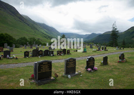 Medieval burial ground in Hebrides - Stock Photo