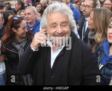 BEPPE GRILLO   ITALIAN POLITIC MOVIMENTO CINQUE STELLE - Stock Photo
