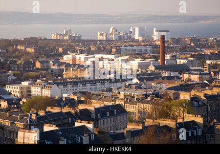 View over Edinburgh, Scotland - Stock Photo