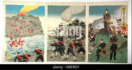 Russo Japanese War 1904 Yalu River - Stock Photo