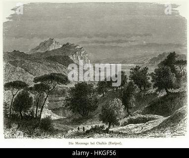 Die Meerenge bei Chalkis (Euripos)   Schweiger Lerchenfeld Amand (freiherr Von)   1887 - Stock Photo