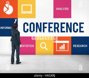 Discussion Corporate Presentation Strategy Concept - Stock Photo