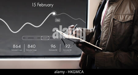 Application Usage Graph Chart Concept - Stock Photo