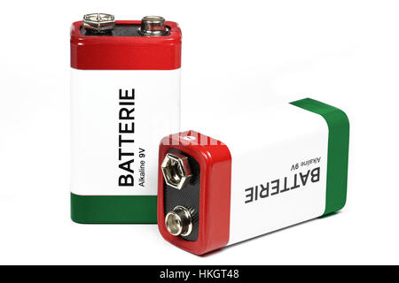 batteries isolated on a white background stock photo. Black Bedroom Furniture Sets. Home Design Ideas