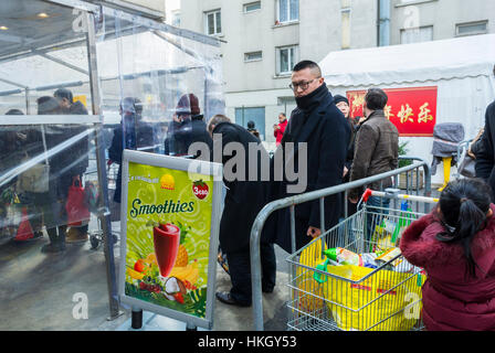 Paris, France, French CHinese Shopping Outside, Tang Freres Asian Supermarket, Chinatown - Stock Photo