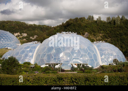 The Eden project, Cornwall, UK - Stock Photo