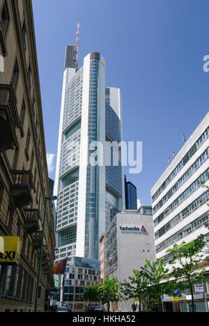 Frankfurt am Main: Commerzbank Tower, Banken, Hessen, Hesse, Germany - Stock Photo