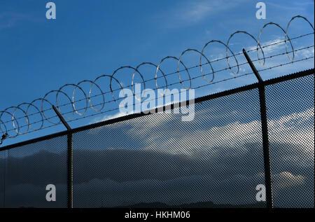EL PASO, TX -  Colin McDonald walks inside the border fence in El Paso, Texas. SEPTEMBER 15, 2014 CREDIT: Erich - Stock Photo