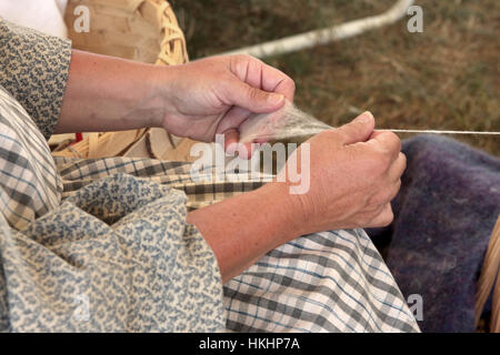 Spinning wool - Stock Photo