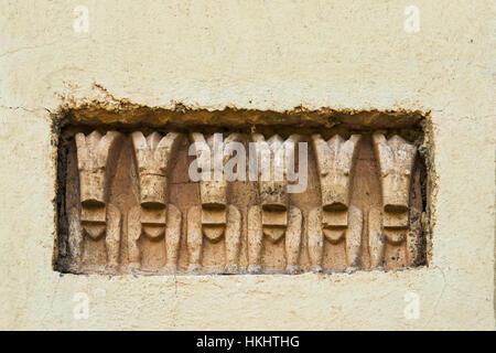 Window of the Great Temple of Yeha, Ethiopia - Stock Photo
