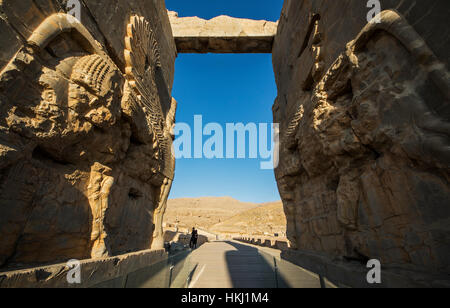 The Gate of All Nations, Persepolis; Fars Province, Iran - Stock Photo