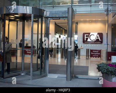 The FCA Offices in the Docklands, London - Stock Photo