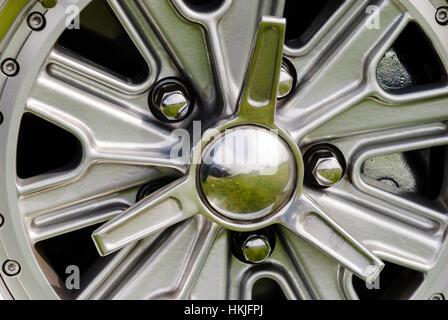 Halibrand style wheels on a 427 Cobra replica kitcar  Stock Photo