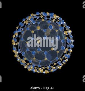 spherical molecular structure - Stock Photo