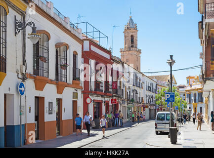 CORDOBA, SPAIN - MAY 26, 2015: The typical Andalusian street. - Stock Photo