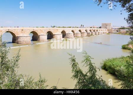 CORDOBA, SPAIN - MAY 26, 2015: The Roman bridge. - Stock Photo