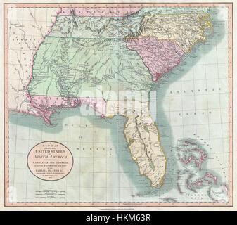 Cary Map Of Florida Georgia North Carolina South Carolina - Map georgia north carolina