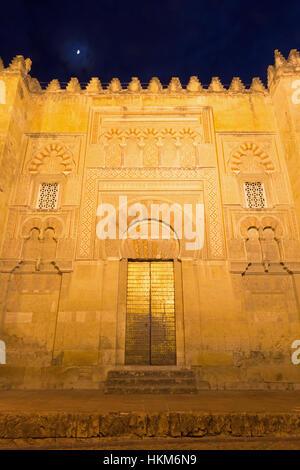 CORDOBA, SPAIN - MAY 26, 2015: The mudejar portal the Cathedral. - Stock Photo