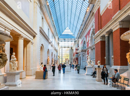 Metropolitan Museum of Art, New York. The Charles Engelhard Court at The Metropolitan Museum of Art, 5th Avenue, - Stock Photo