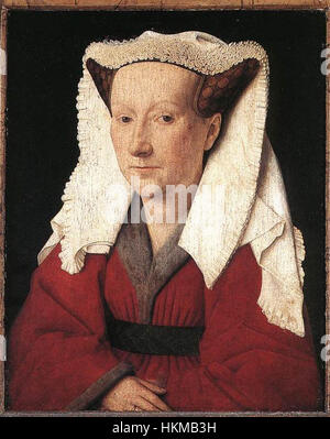 Jan van Eyck - Portrait of Margareta van Eyck - WGA7618 - Stock Photo