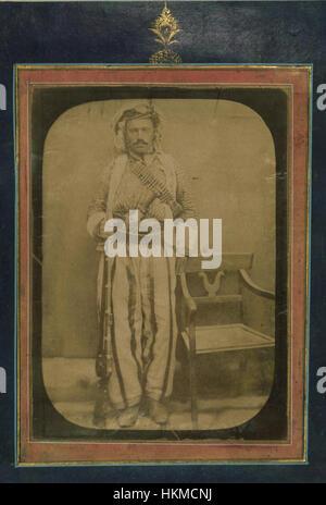 'Abd Allah al-Husayni - Album of Persian and Indian Miniatures, Calligraphy, and European Engravings - Walters W771 - Stock Photo